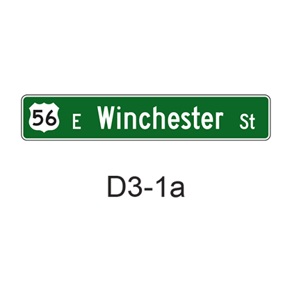 Street Name with Route Sign
