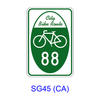 Bicycle Route Number Marker [symbol] SG45(CA)