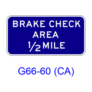 BRAKE CHECK AREA XX MILE G66-60(CA)