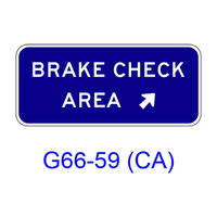 BRAKE CHECK AREA w/ arrow G66-59(CA)