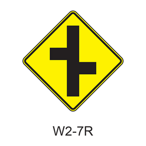 Intersection Warning W2-7R