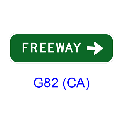 FREEWAY w/ arrow G82 (CA)