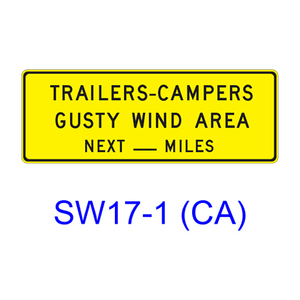 TRAILERS-CAMPERS-GUSTY WIND AREA NEXT __MILES SW17-1(CA)