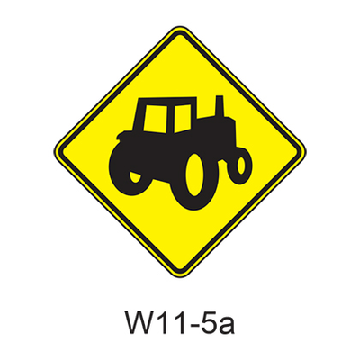 Vehicular Traffic Warning [symbol] W11-5a