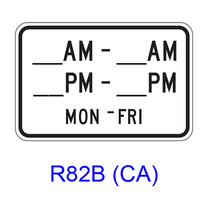Specific Hours/Days [plaque]