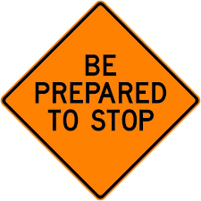 BE PREPARED TO STOP C36
