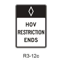Preferential Lane Ends [HOV symbol] R3-12c