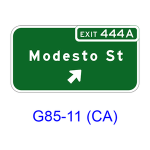 Exit Numbered Exit Direction G85-11(CA)