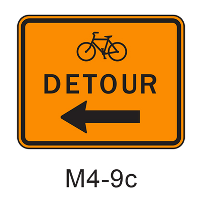DETOUR w/ arrow [symbol] M4-9c