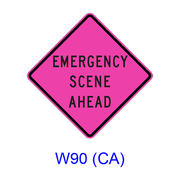 EMERGENCY SCENE AHEAD W90(CA)