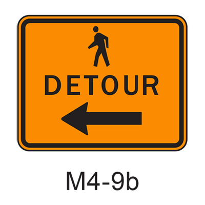 DETOUR w/ arrow [symbol] M4-9b