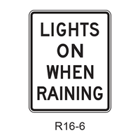 LIGHTS ON WHEN RAINING R16-5