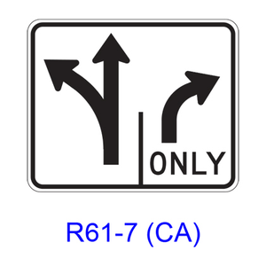 Intersection Lane Control R61-7(CA)
