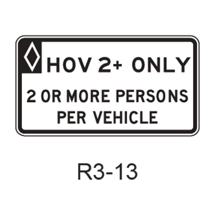 Vehicle Occupancy Definition [HOV symbol] R3-13