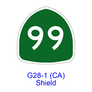 State Route Shield G28-1(CA)