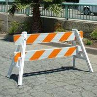 10' PLASTIC PARADE BARRICADE (RAIL ONLY)