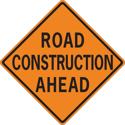 ROAD CONSTRUCTION AHEAD 36