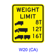 Weight Limit [symbol] W20(CA)