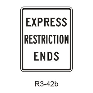 EXPRESS RESTRICTION ENDS R3-42b