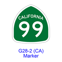 State Route Marker G28-2(CA)