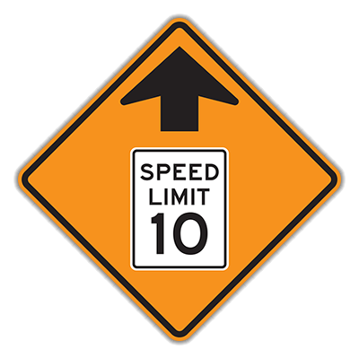 SPEED REDUCTION AHEAD HI 36X36