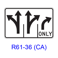 Intersection Lane Control R61-36(CA)