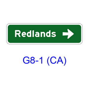 Destination & Street Name w/ arrow G8-1(CA)