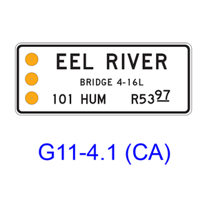 BRIDGE - RIVER MARKER Sign G11-41CA