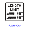 Truck Length Limit [symbol] R20H(CA)