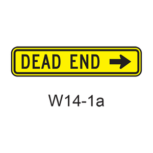 Dead End (directional) W14-1a