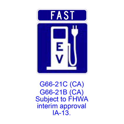 FAST Electric Vehicle Charging Station [plaque] G66-21CCA