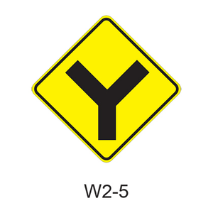 Intersection Warning (Y) W2-5