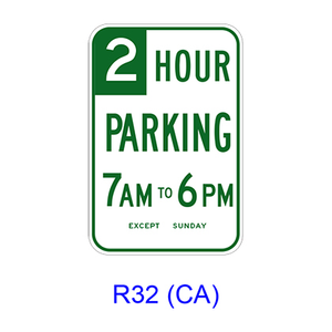 R3 2 Sign >> Limited Hour Minute Parking Specific Hours R32 Ca Bc