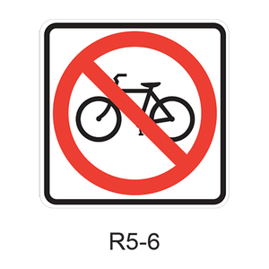 No Bicycles [symbol] R5-6