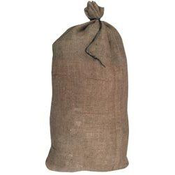 BURLAP BAG FILLED 3/4 ROCK