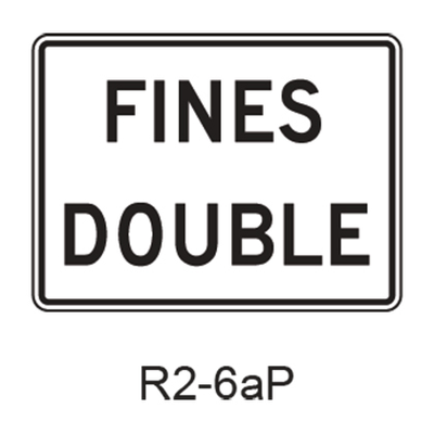 FINES DOUBLE [plaque] R2-6aP