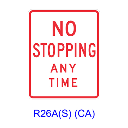 NO STOPPING ANY TIME R26A(S)CA