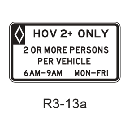 Vehicle Occupancy Definition [HOV symbol] R3-13a