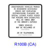 Disabled Tow-Away R100B(CA)
