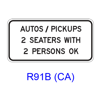 AUTOS/PICKUPS _ SEATERS WITH _ PERSONS OK R91B(CA)