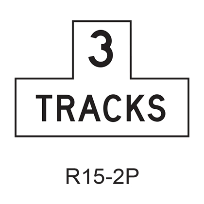 Number of Tracks [plaque] R15-2P