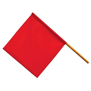 FLAG OVERHANG RED COTTON