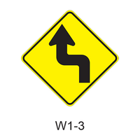 Reverse Turn Sign W1-3
