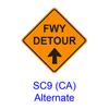 FWY DETOUR with Arrow SC9CAA