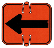 CONE SIGN REVERSIBLE ARROW