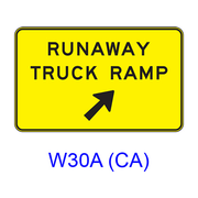 RUNAWAY TRUCK RAMP (w/ arrow) W30A(CA)