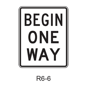 BEGIN ONE WAY R6-6