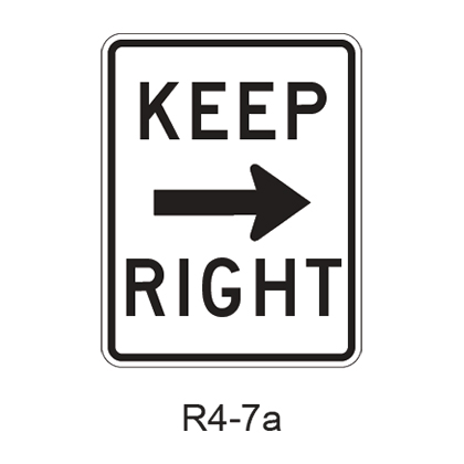 Keep Right R4-7a
