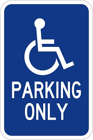HANDICAP PARKING ONLY HI 12X18