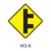Intersection Warning W2-8